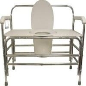 "PCB-736, 1500lbs cap., 36"" Bariatric Bedside Commode"