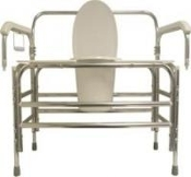 "PCB-724, 850lbs cap., 24"" Bariatric Bedside Commode"